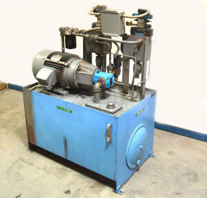 Marmac M 5865 1000 psi Hydraulic Power Unit 15 hp Vickers Flow control valves