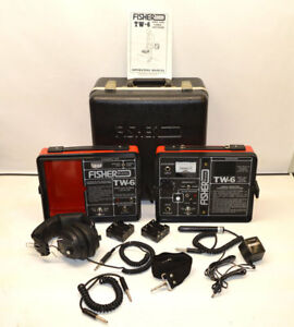 Fisher Tw 6 Split box Pipe Cable Locator M scope Transmitter receiver In out