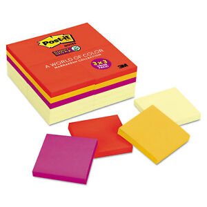 Post it Notes Super Sticky Note Pads Office Pack 3 X 3 Canary Yellow With