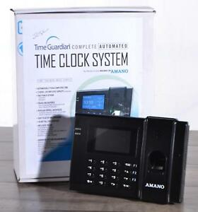 Amano Fpt 80 Time Guardian Complete Automated Clock System Fingerprint Biometric