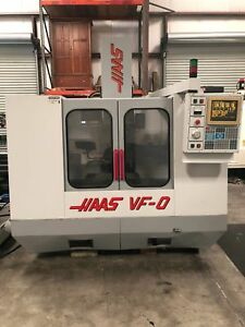Haas vf 0 Cnc Vertical Machining Center 1995 2100 Spindle Hours gmt 1658