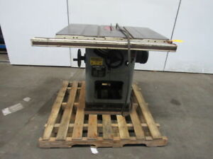 Delta Unisaw 5hp 10 Table Saw 230 460v 3 Ph