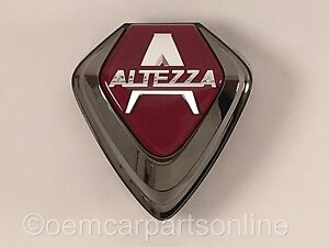 Jdm Toyota 2000 05 Lexus Is300 Front Grill Altezza Emblem Red Badge Genuine Oem