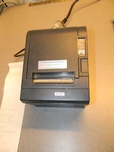 Epson M129c Tm t88iii Serial Pos Thermal Receipt Printer W Cutter Power Supply