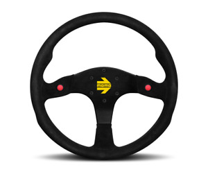 Momo Steering Wheel Mod 80 Black Suede 350mm Free Momo Suede Brush Us Dealer