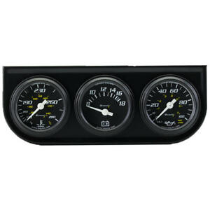 Equus Gauge Set 6100 6000 Series Water Temp Volt Oil Pressure Black 1 1 2