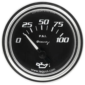Equus Engine Oil Pressure Gauge 7234 7000 Series 0 100 Psi 2 1 16 Mechanical