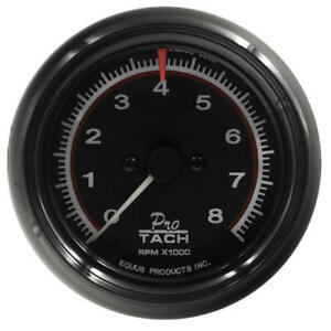 Equus Tachometer Gauge 6088 6000 Series 0 To 8000 Rpm 3 3 8 Electric