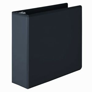 New Wilson Jones 3 Black Basic D ring View Binders 6pk Free Shipping