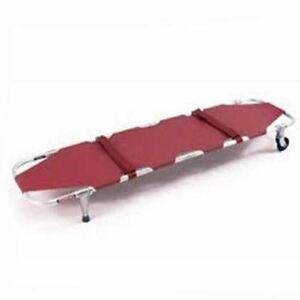 Ferno 11 Folding Emergency Stretcher With Wheels And Posts