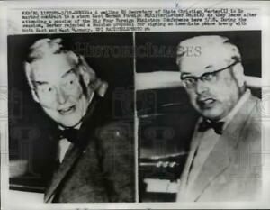 1959 Press Photo Christian A Herter Lother Bolz leave conference in Geneva
