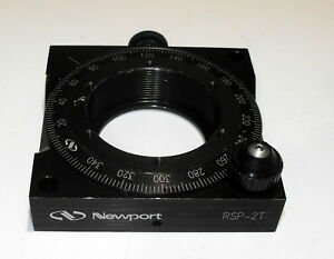 Nice Newport Rsp 2t Precision Rotation Stage Rotary Mount For 2 Optics