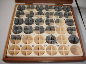 Kingsley Hot Stamping Machine 24 Point Gothic Type Set