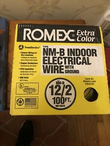 100 Ft 12 2 Yellow Solid Simpull Nm b Wire Indoor Residential Electrical Wire