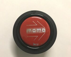 Momo Steering Wheel Horn Button Red New Logo