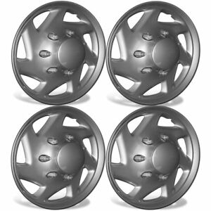 4pc Hubcaps Set Fits Ford E 150 Abs Silver For 15 Inch Wheel Cover Rim Skin