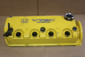 96 00 Civic Ex Yellow Valve Cover Ek Spoon D16y8 Jdm Eg 92 95 D16z6 Sohc Vtec Si