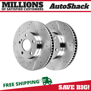 Front Drill Slotted Performance Rotors Pair 2 Fits 09 18 Toyota Corolla 980629