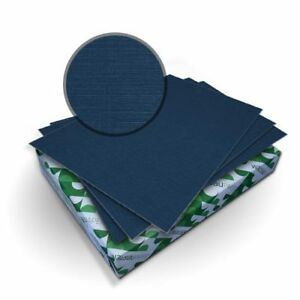 New Royal Linen Midnight Blue 8 75 X 11 25 Covers With Windows 50 Sets