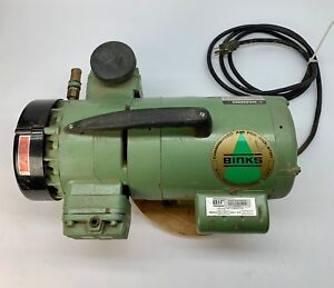 Binks Supplied Air Compressor Tested 50psi 34 2051 3 4hp Airbrush Paint Sprayer