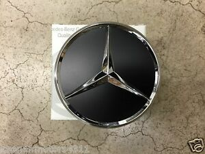 Genuine Oem Mercedes Benz Flat Black W Chrome Center Cap