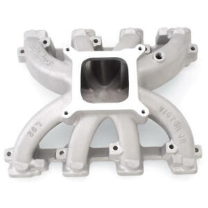 Edelbrock Intake Manifold 28457 Victor Jr Satin For Chevy Ls Series L92 Heads