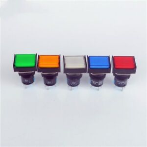 Rectangle Push Button Switch Led Light Momentary Latching 16mm 12v 5v 5 Pins