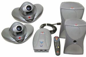 Polycom Vsx 7000 Conference Video System 2 Camera remote 2 Speaker vsx Concert