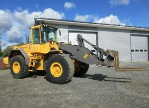 Volvo L120e Wheel Loader With Forks And Bucket