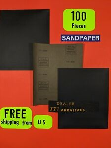 100 wet dry sanding Sheets 1200grit silicon carbide 9x11 waterproof paper