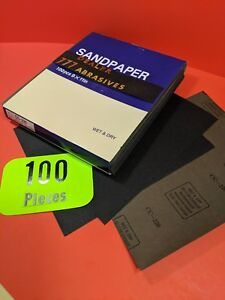 100 X Wet Dry Sanding Sheets 220 Grit Silicon carbide 9x11 waterproof Paper