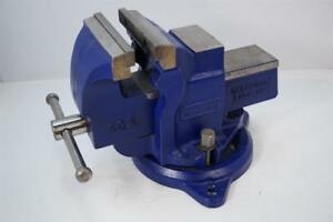 Mint Record Uk Made Sq5 5 Quick Release Bench Vise With Swivel Base