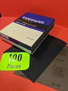 100xwet dry Sanding Sheets 100 Grit Silicon carbide 9x11 Waterproof Paper