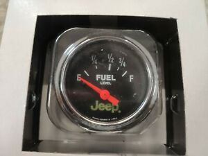 Autometer 880428 Jeep Electric Fuel Level Gauge 2 Auto Meter Genuine