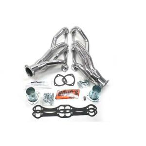 Doug S Exhaust Header D304 1 5 8 3 Shorty 16ga Ceramic Coated Steel For Sbc