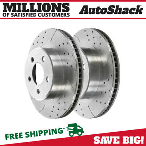 Front Drilled Slotted Performance Rotors Pair 2 For 07 14 Jeep Wrangler 780518