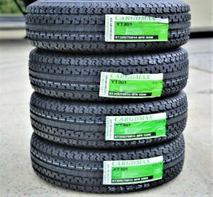 4 New Premium Cargo Max St205 75r14 D 8 Ply Steel Belted Radial Trailer Tires