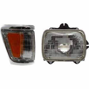 Headlight Kit For 1992 1995 Toyota Pickup Right 4wd 2pc