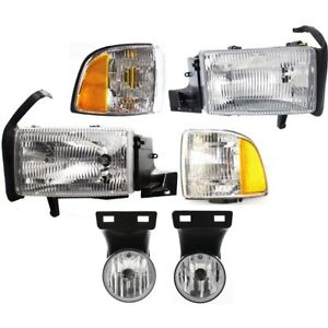 Headlight Kit For 1999 2001 Dodge Ram 1500 Left And Right 6pc