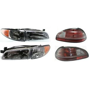 Headlight Kit For 1997 2003 Pontiac Grand Prix Left And Right 4pc