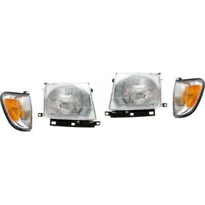 Headlight Kit For 1998 2000 Toyota Tacoma Left And Right 4pc
