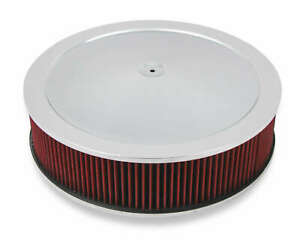 Holley 120 4140 4150 Drop Base Air Cleaner Chrome W 4 Red Washable Gauze Filter