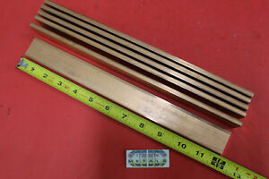 6 Pieces 1 4 x 1 1 4 C110 Copper Bar 12 Long Solid Flat Bus Bar Stock H02