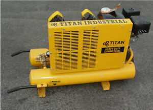 Titan Heavy Duty Industrial 5 5 Hp 8 Gallon Air Compressor