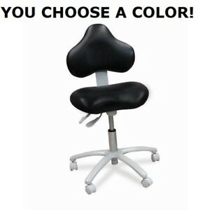 Galaxy Dental Doctor s Hygienist s Anti fatigue Seat Stool Chair 17 Colors