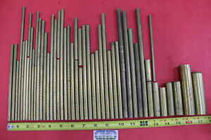 1 4 To 1 C360 Brass Round 53 Piece Assortment Solid Rod Bar Stock 12 2