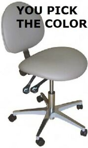 Galaxy Model 2012 Ergonomic Dental Assistant Stool Doctor Chair 17 Colors