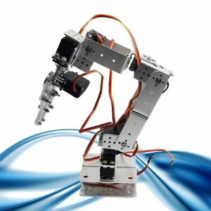 Rot2u 6dof Aluminium Robot Arm Clamp Claw Mount Kit W Servos For Arduino silver
