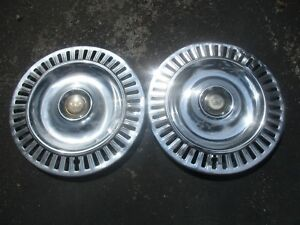 Lot Of 2 1955 1956 Chrysler Imperial 300 15 Inch Hubcaps Wheel Covers Beaters