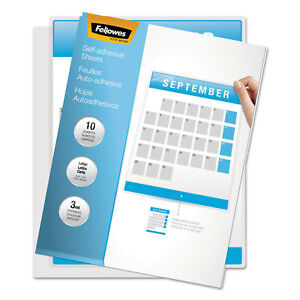 Fellowes Self laminating Sheets 3mil 12 X 9 1 4 50 box